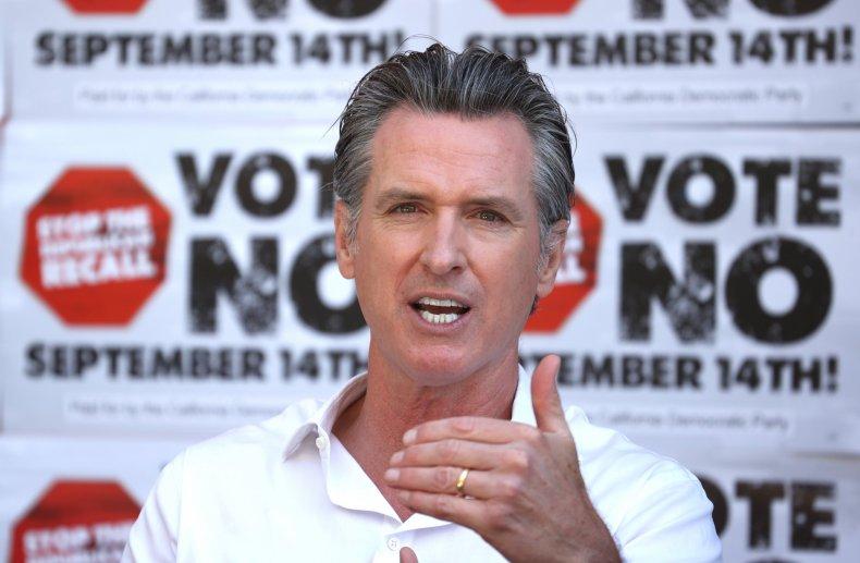 Gavin Newsom recall election results