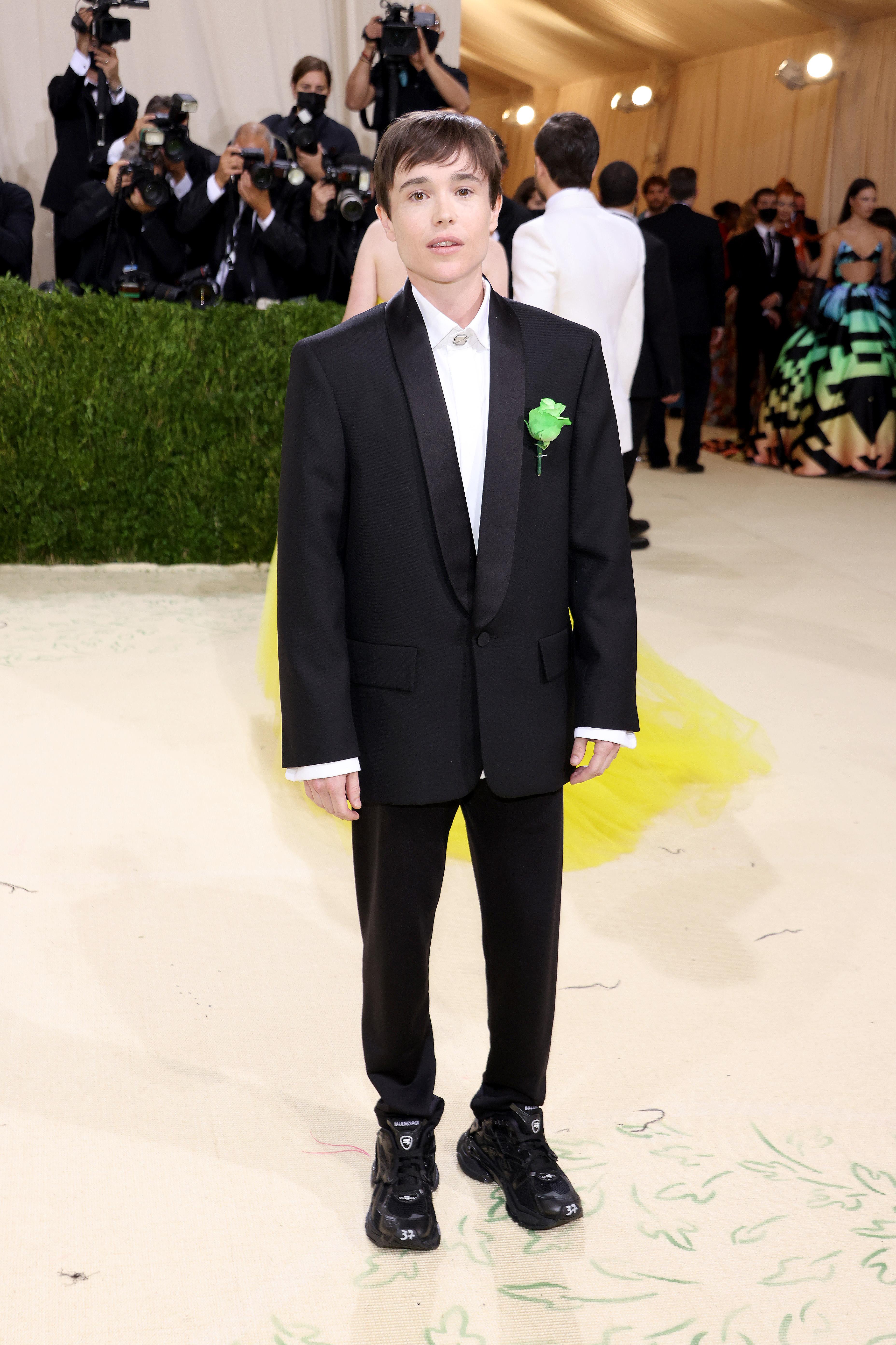 Elliot Page arrives at the Met Gala