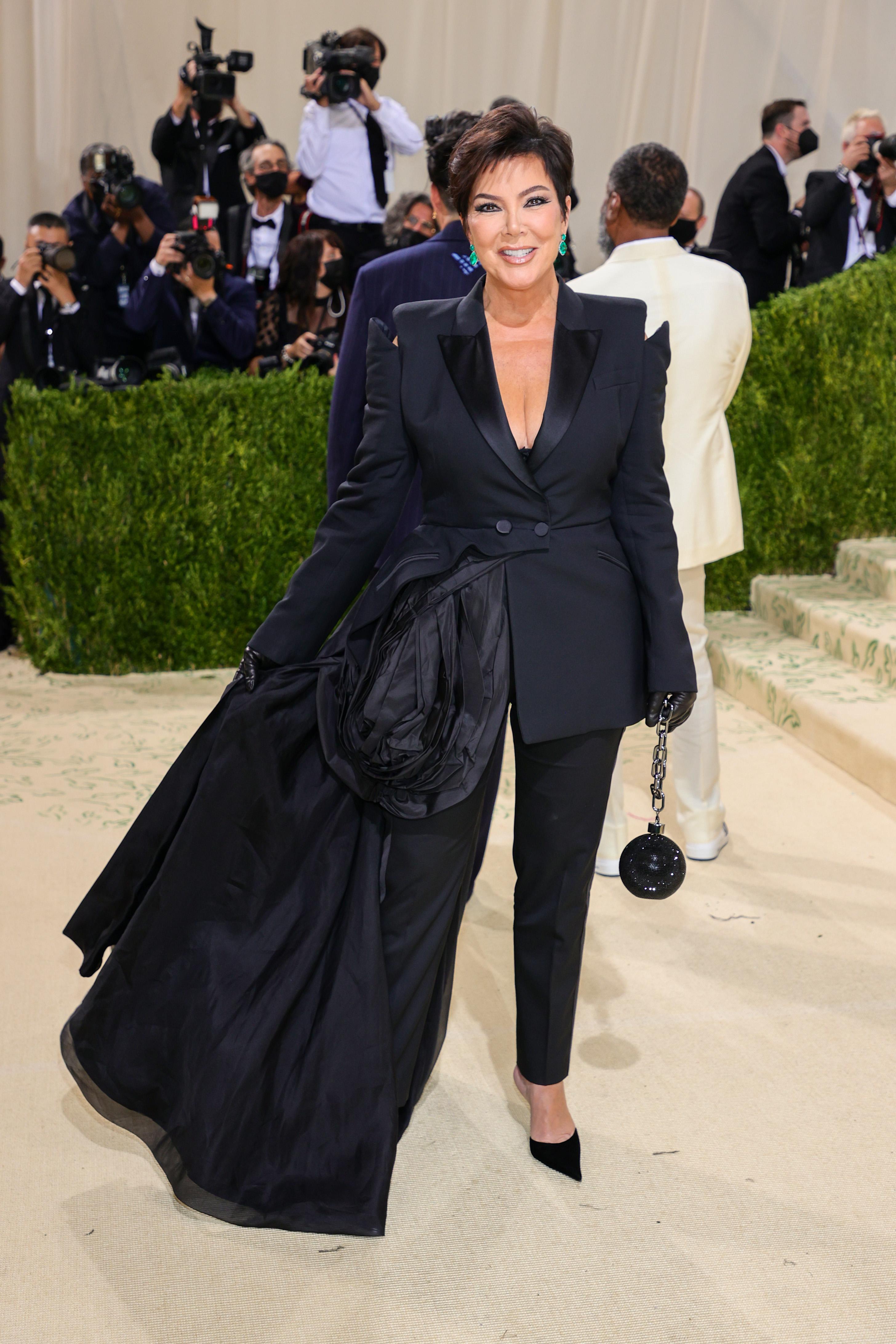 Kris Jenner arrives at the Met Gala