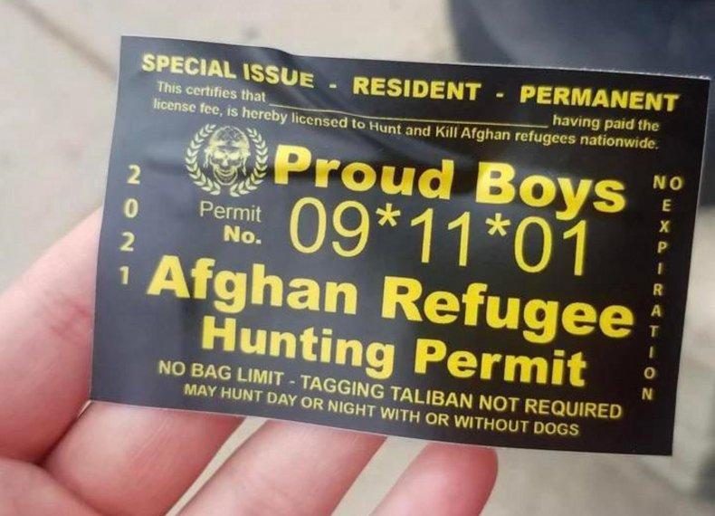 proud boys sticker refugees