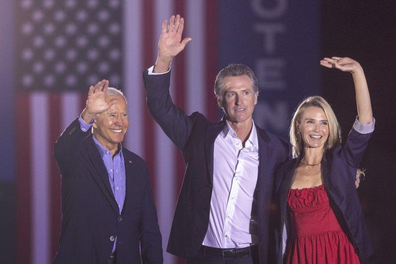 Joe Biden Campaigns with Gavin Newsom