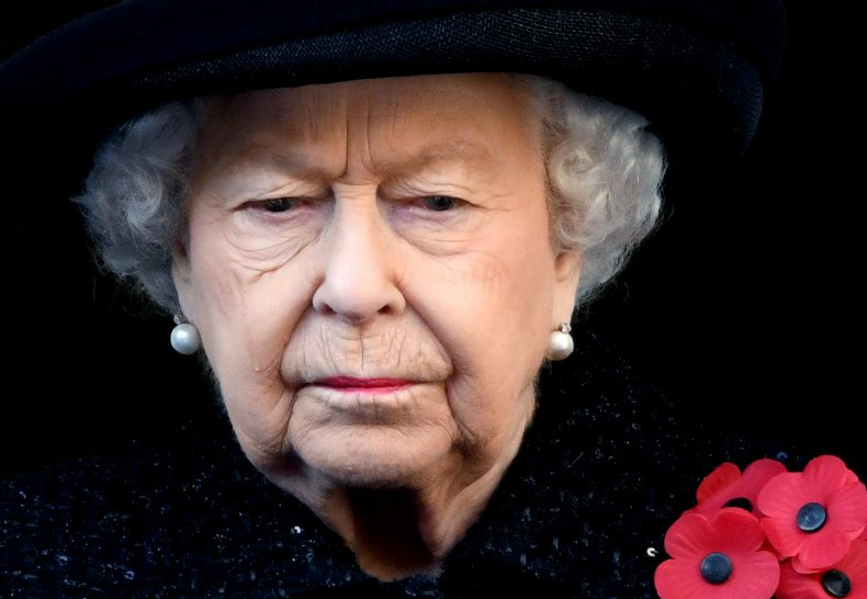 Queen Elizabeth II at Remembrance Sunday