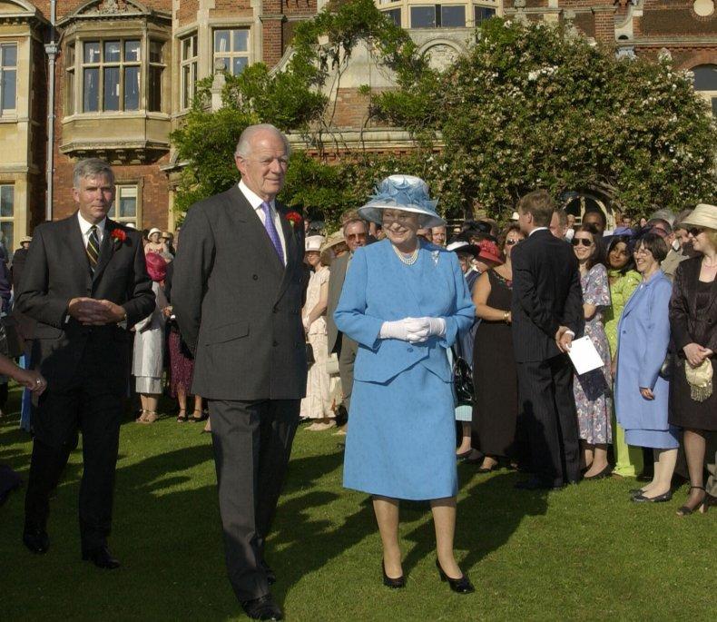 Queen Elizabeth and Timothy Colman