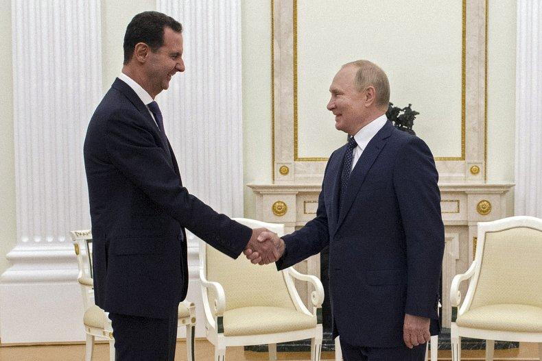 Putin and Assad Meeting