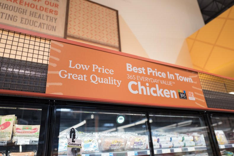 A supermarket ad for chicken in California.