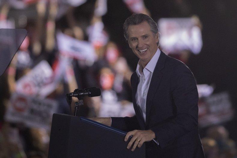 Gavin Newsom Speaks at His Final Rally