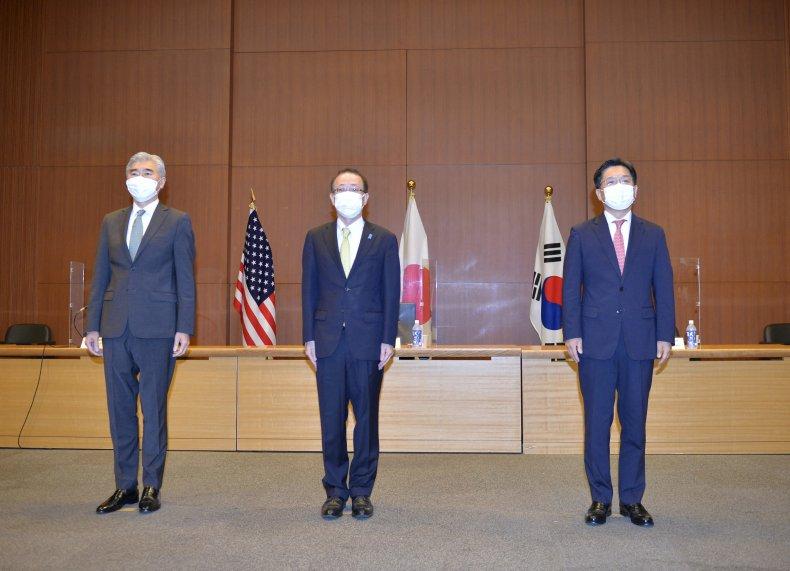 US, Kim, Japan, Funakoshi, ROK, Noh, meet