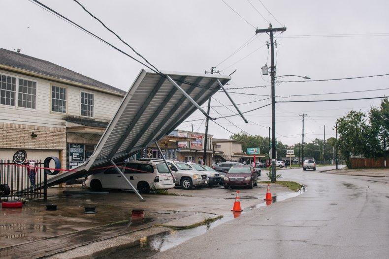 Houston Carport Damaged