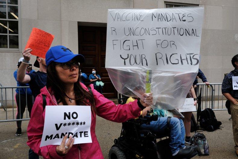 Anti-Vaxx Protestors New York