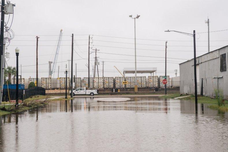 Galveston Streets Flooding