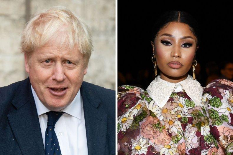 Boris Johnson and Nicki Minaj