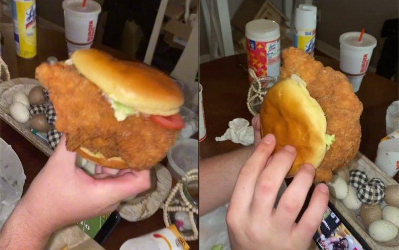 Burger King chicken burger the Ch'King.