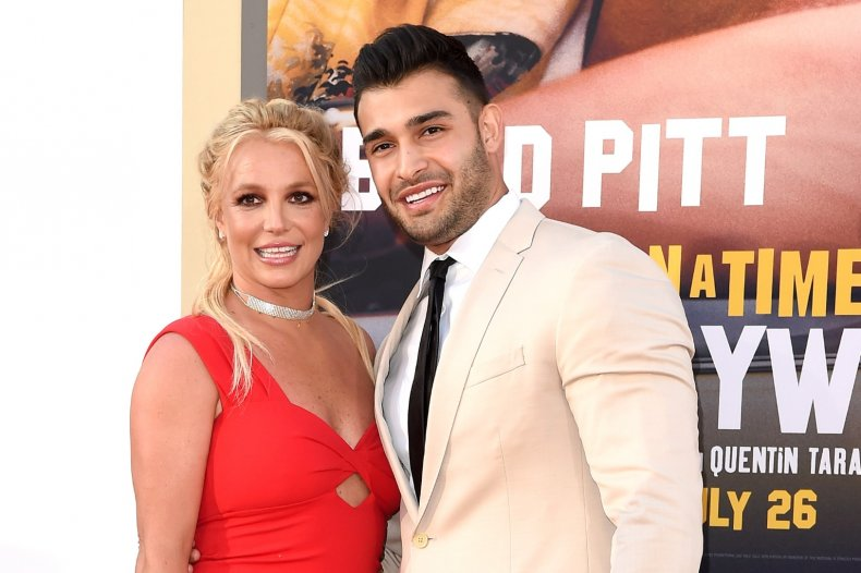 Britney Spears and her fiancé Sam Asghari