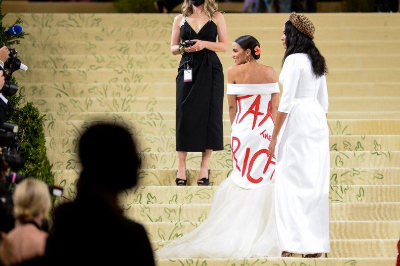 Alexandria Ocasio-Cortez attends the 2021 Met Gala