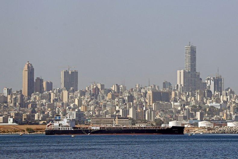 Superba oil tanker is seen docked near