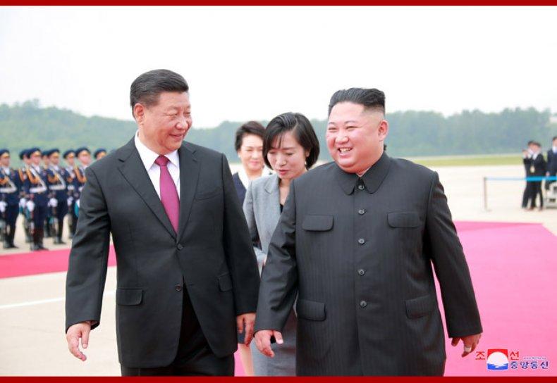 China, Xi, meets, DPRK, Kim, in, Pyongyang
