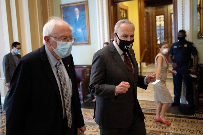 Bernie Sanders and Chuck Schumer
