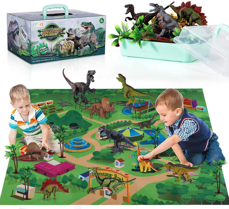 Temi Dinosaur Toy Figures With Mat
