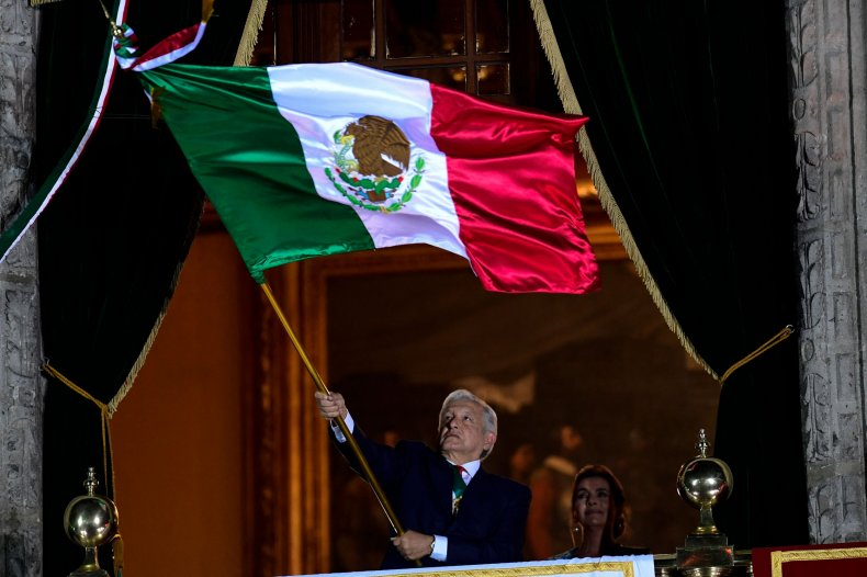 A flag waved on Mexican Independence Day.