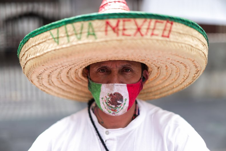 A man celebrating Mexican Independence Day.