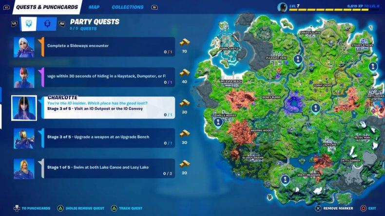 Fortnite Season 8 IO Outpost Locations