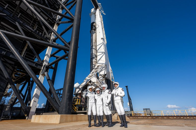 Falcon 9 and the Inspiration Crew