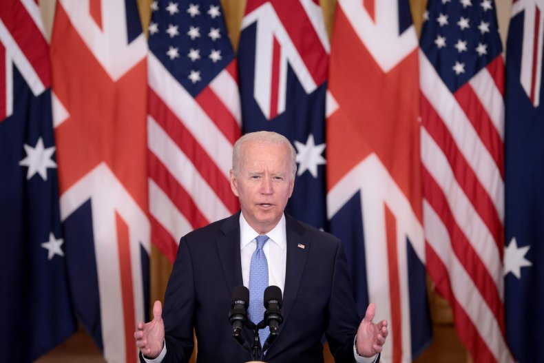 Joe Biden Announces New AUKUS Defense Pact