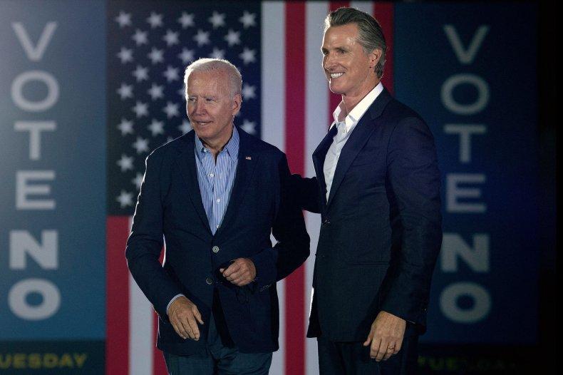 Gavin Newsom Appears with President Joe Biden