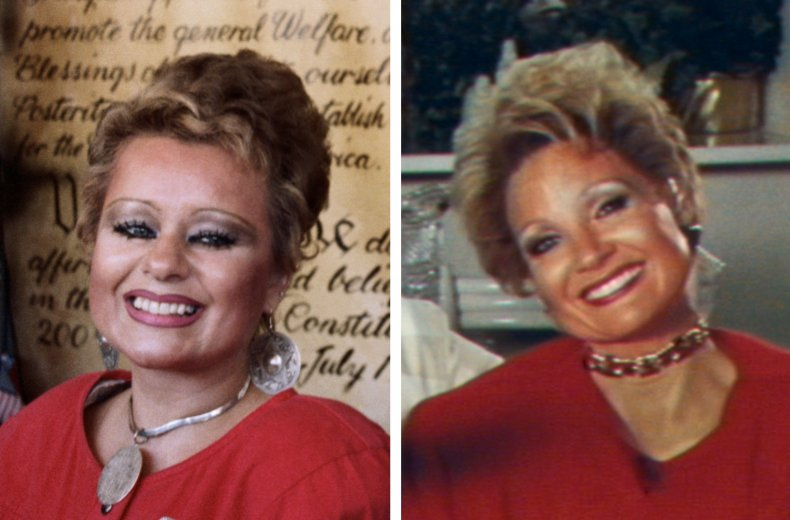 Tammy Faye and Jessica Chastain