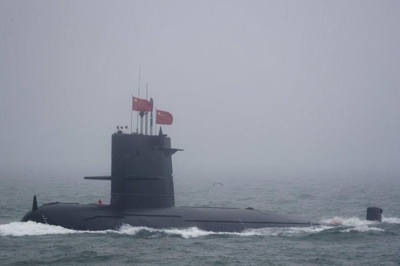 China's PLA Navy Parades New Conventional  Submarine