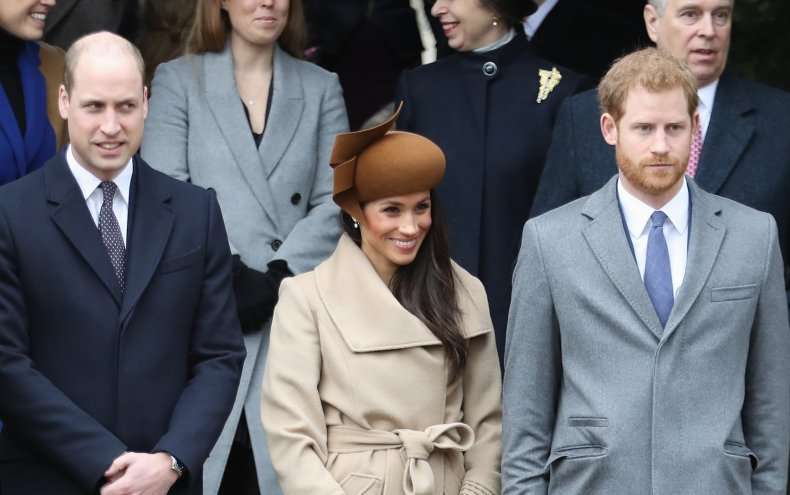 Prince William With Harry and Meghan