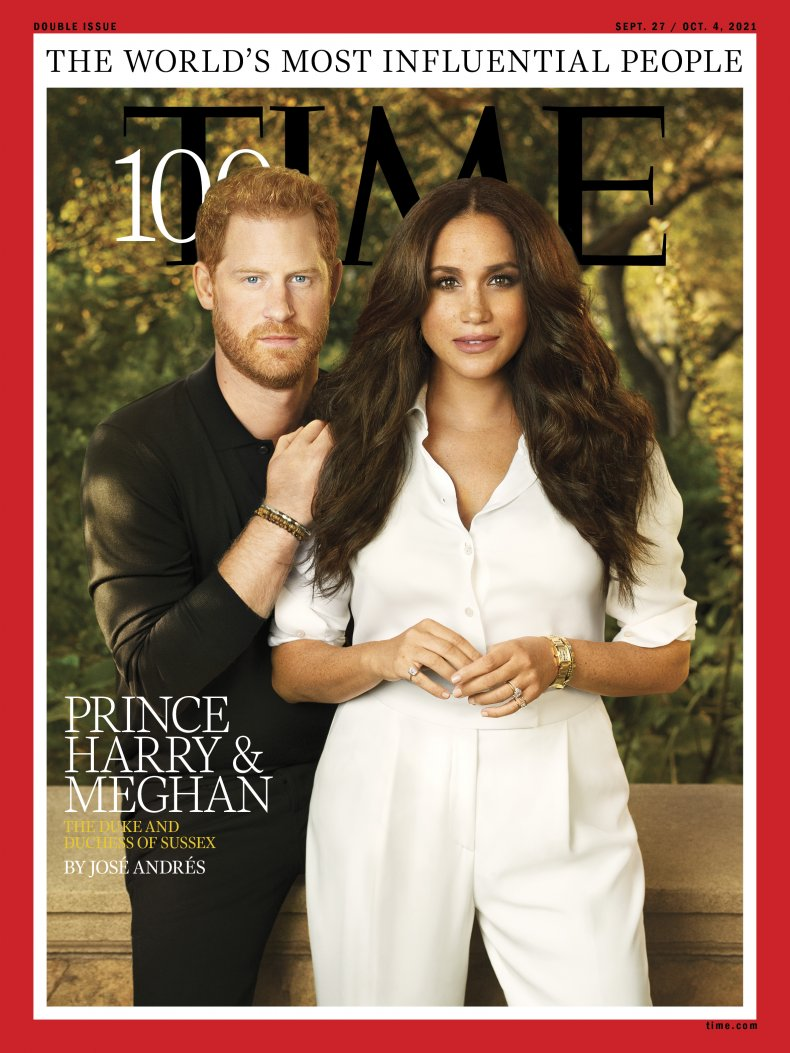 Harry and Meghan's Time100 Cover Shoot