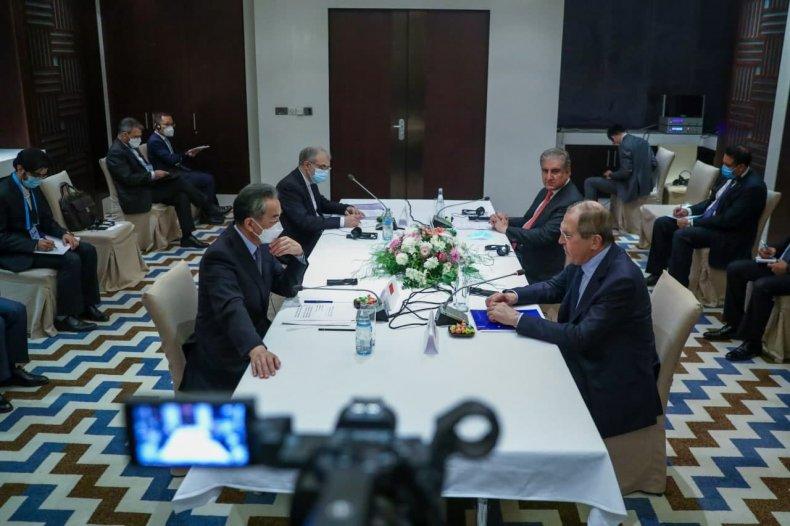 China, Iran, Pakistan, Russia, officials, meet, Tajikistan