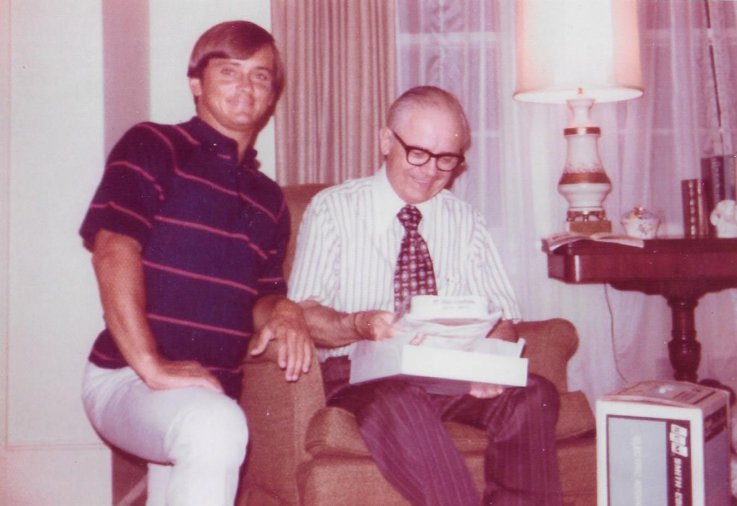 Bobby Jones with father