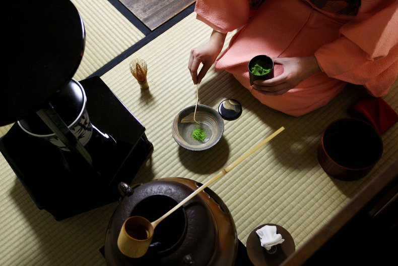 A tea ceremony class in Tokyo.