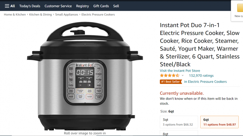 Instant pot pair 7-in-1 electric pressure cooker.
