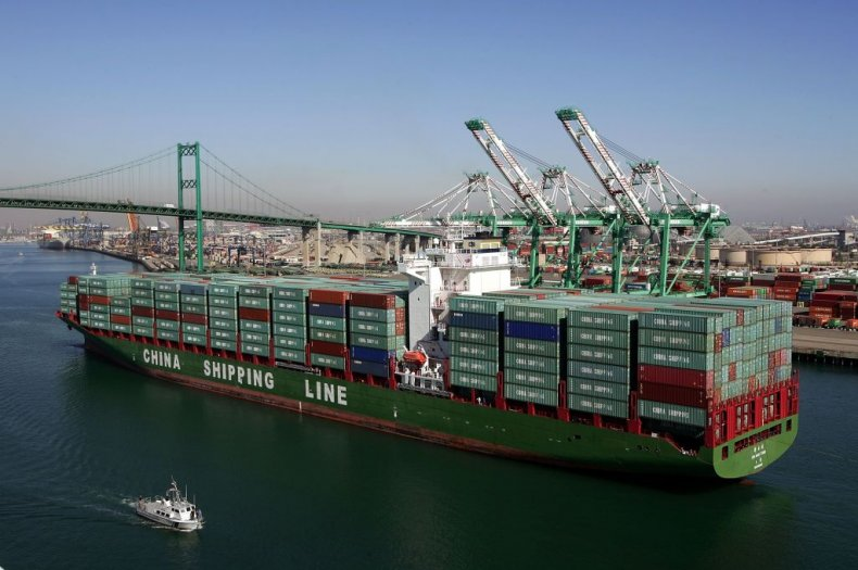 A China Shipping Lines container ship