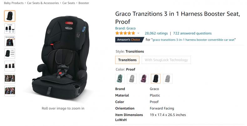 Graco Tranzitions booster set.