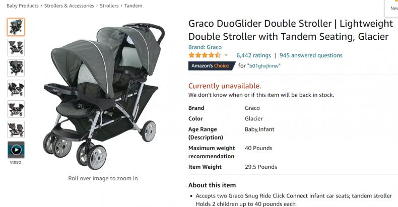 Graco DuoGlider Double rotator.