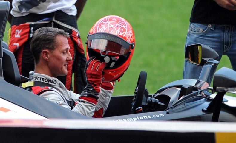 Michael Schumacher at Bangkok practice session.