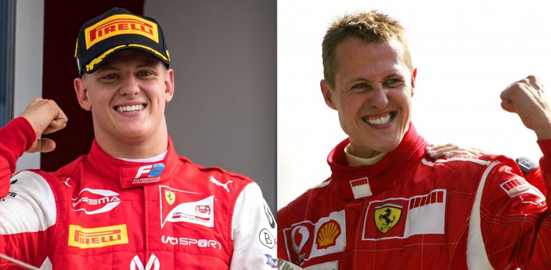Michael Schumacher and his son Mick.