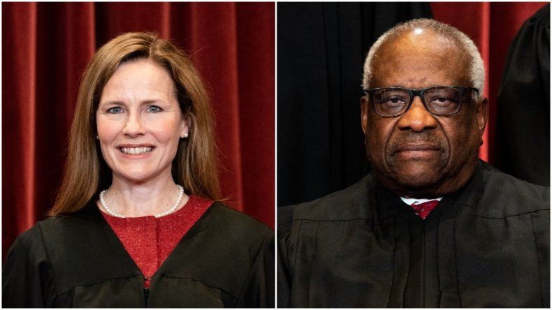 Photo Composite Shows Justices Thomas and Barrett
