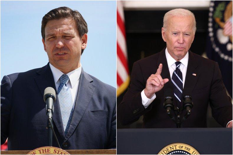 Photo Composite Shows DeSantis and Biden