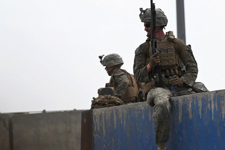 US troops at Kabul airport Afghanistan Taliban