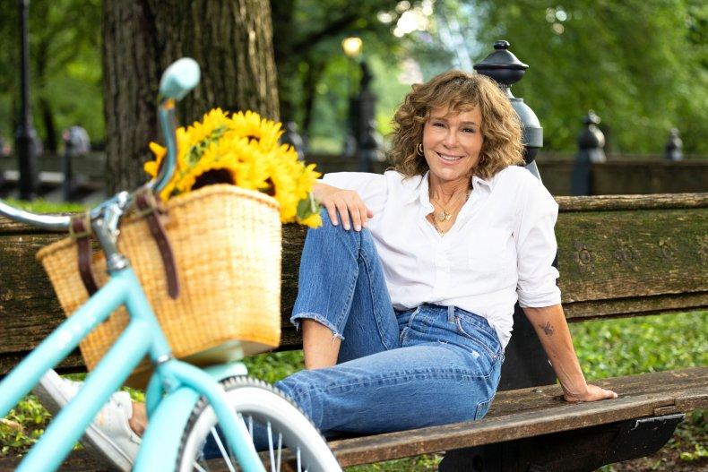 Jennifer Grey Flu Shot Fridays Bike