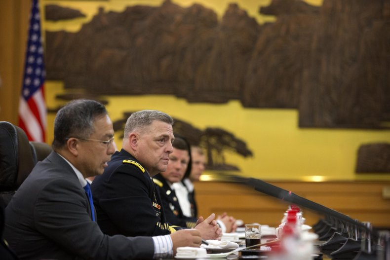 Milley Meets with Gen. Zuocheng