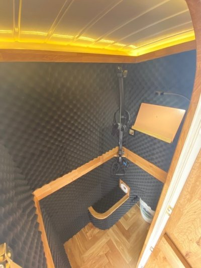 A Tiny Home Van Recording Studio