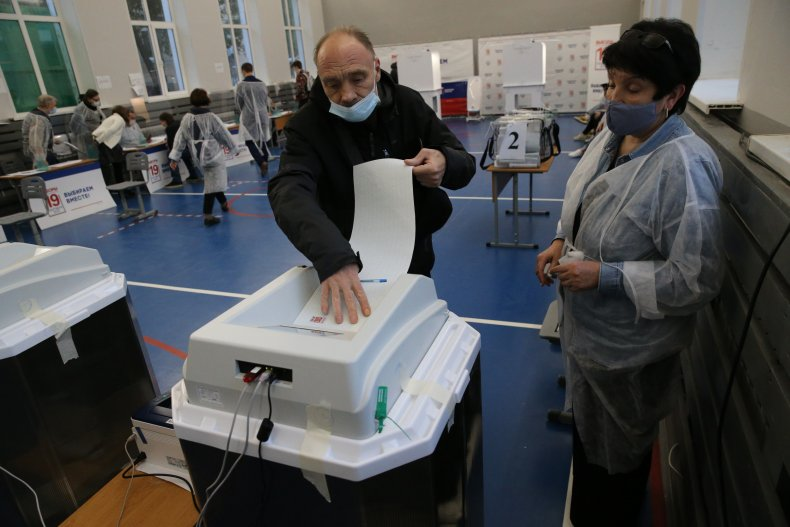Russian election voters