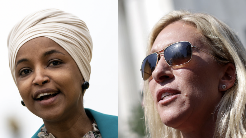 Alhan Omar and Marjorie Taylor Green
