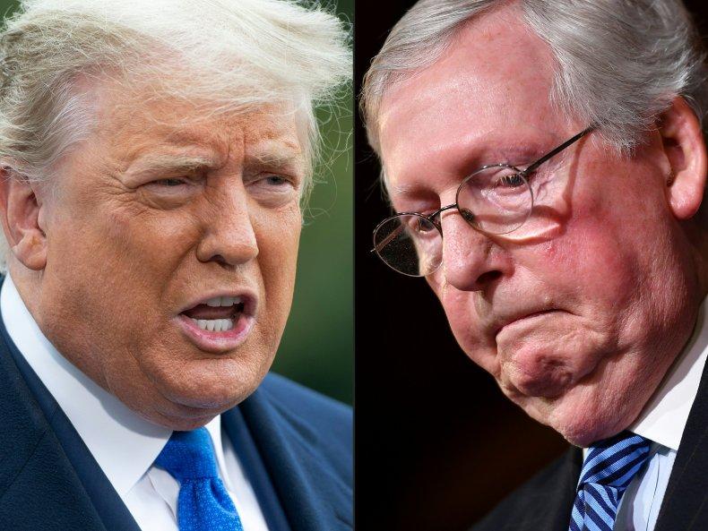 Trump blasts Mitch McConnell